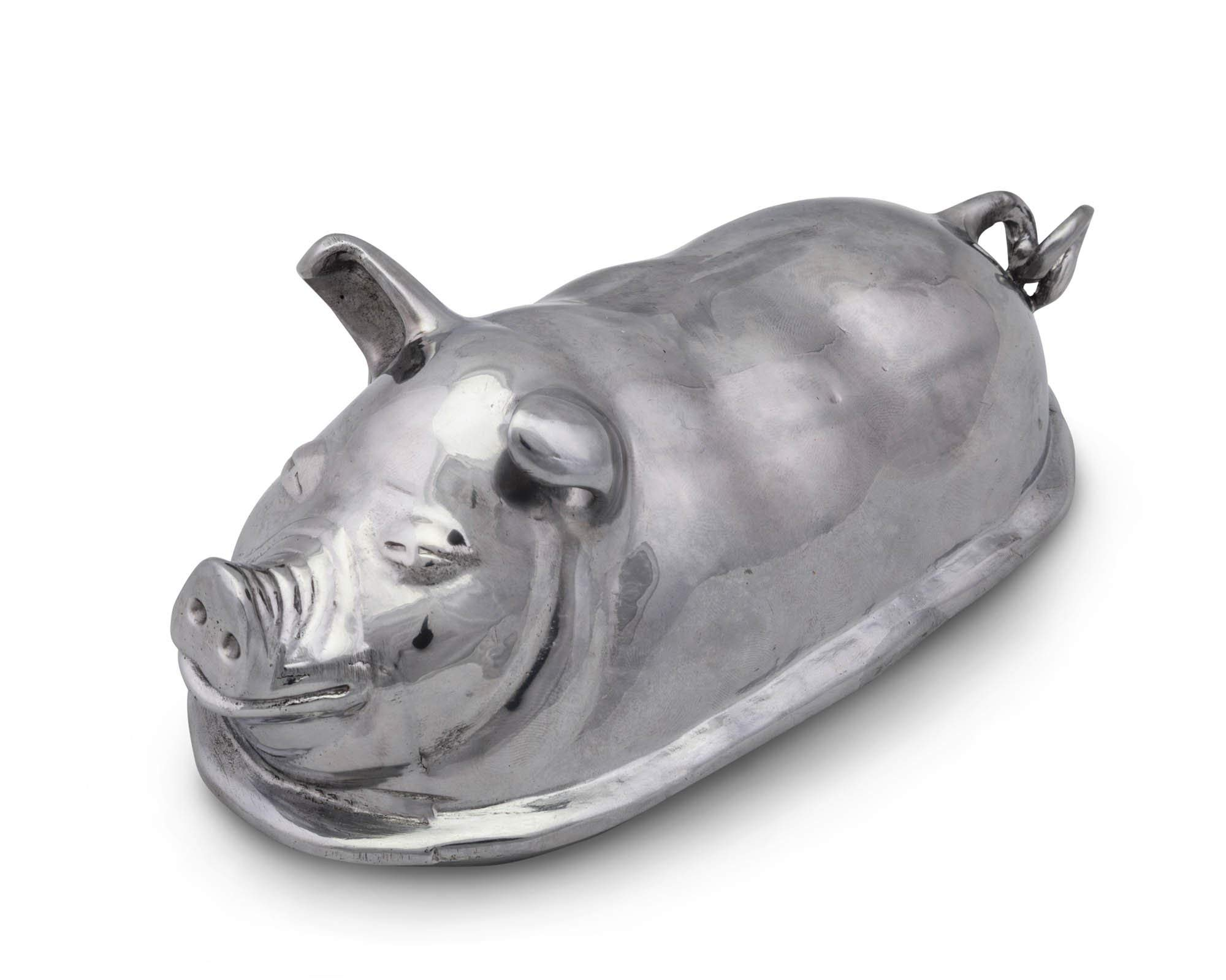 Arthur Court Happy Pig Butter Cream Cheese Dish 3.75'' Long x 7.5'' Wide x 3.5'' Tall by Arthur Court (Image #3)