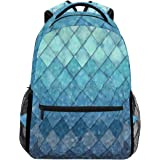 a9a1b63b206d ZOEO Girls Backpacks Blue Teal Mermaid Scales Kids School Bookbags Travel  Laptop Daypack Bag Purse for