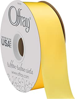 """product image for Offray Berwick 1.5"""" Wide Double Face Satin Ribbon, Baby Maize Yellow, 50 Yds"""