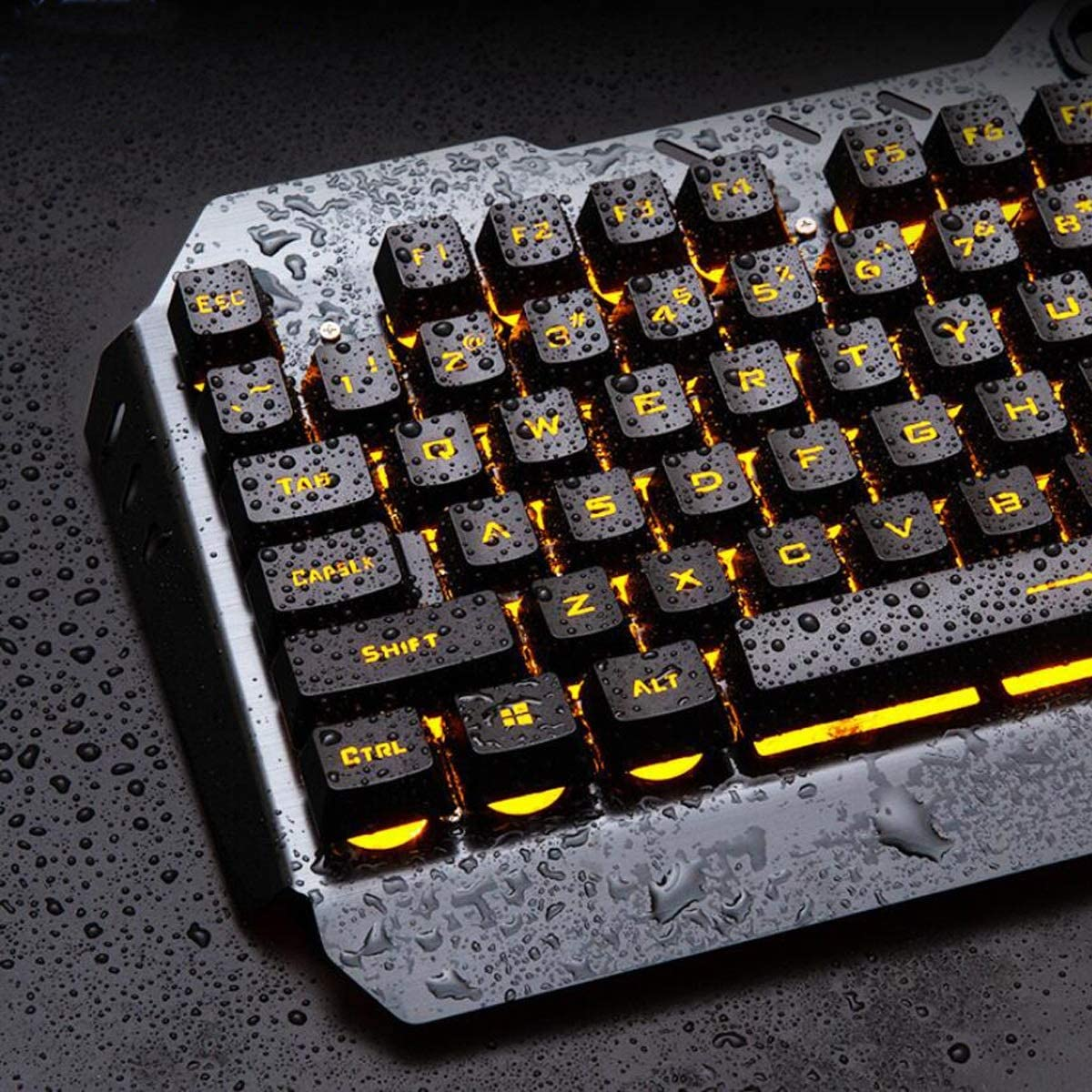 Gaoxingbianlidian Mechanical Keyboard Gaming Keyboard and Mouse Set Black Wired Metal Esports Backlight High-end Texture. Eating Chicken Mechanical Keyboard Color : Silver