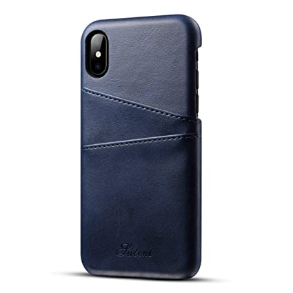 Amazon.com: lnobern [suteni] funda de piel para iPhone X 5.8 ...