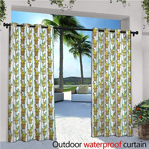 Cortinas Opacas para Exteriores de Cactus para Ventanas Tropicales, para jardín, privacidad, Porche, Cortinas: Amazon.es: Jardín
