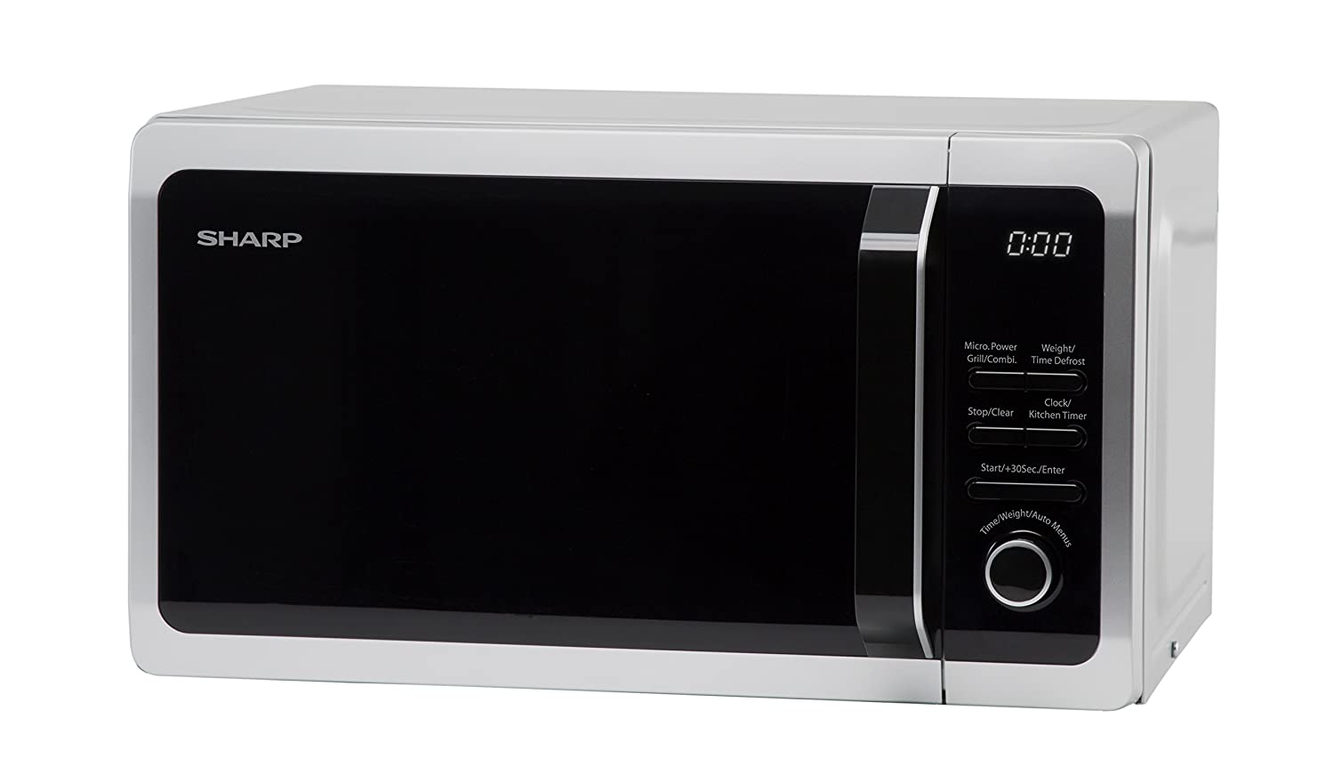 Sharp R664 Compact Grill Microwave, 20 Litre, 800 W, Black