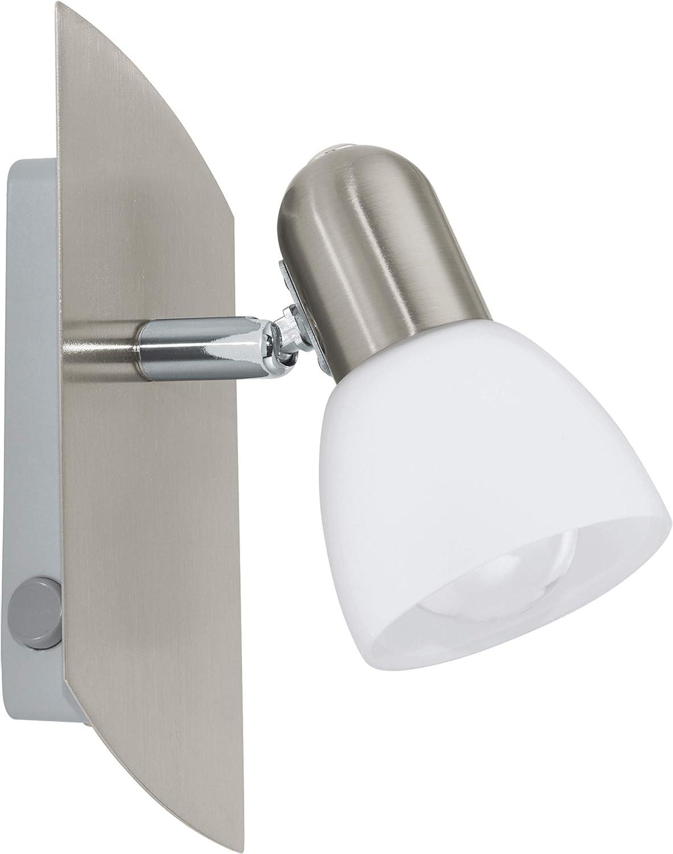 Brilliant G15410//77 Spot Pat/ère LED Acier//Chrome GU10 5 W M/étal Argent