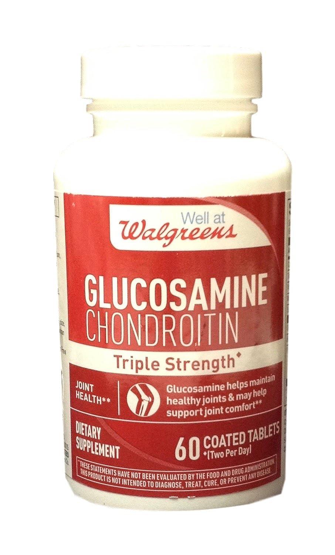 amazon com walgreens glucosamine chondroitin triple strength