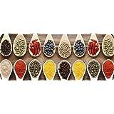 ID Mat 50120 Epices Tapis de Cuisine Fibre Polyamide/PVC Multicolore 120 x 50 x 0,4 cm