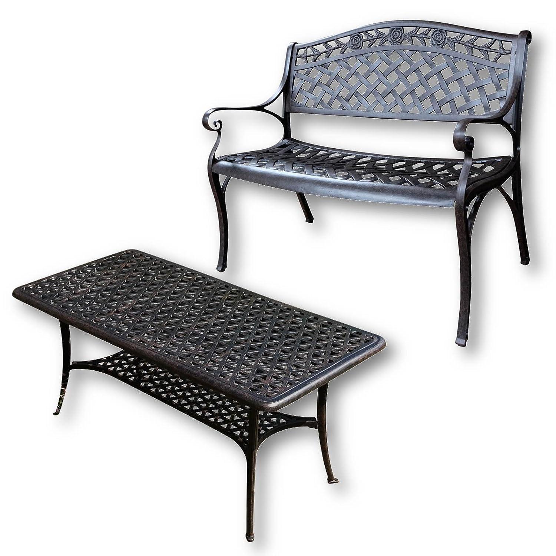 lazy susan claire rechteckiger garten beistelltisch mit. Black Bedroom Furniture Sets. Home Design Ideas