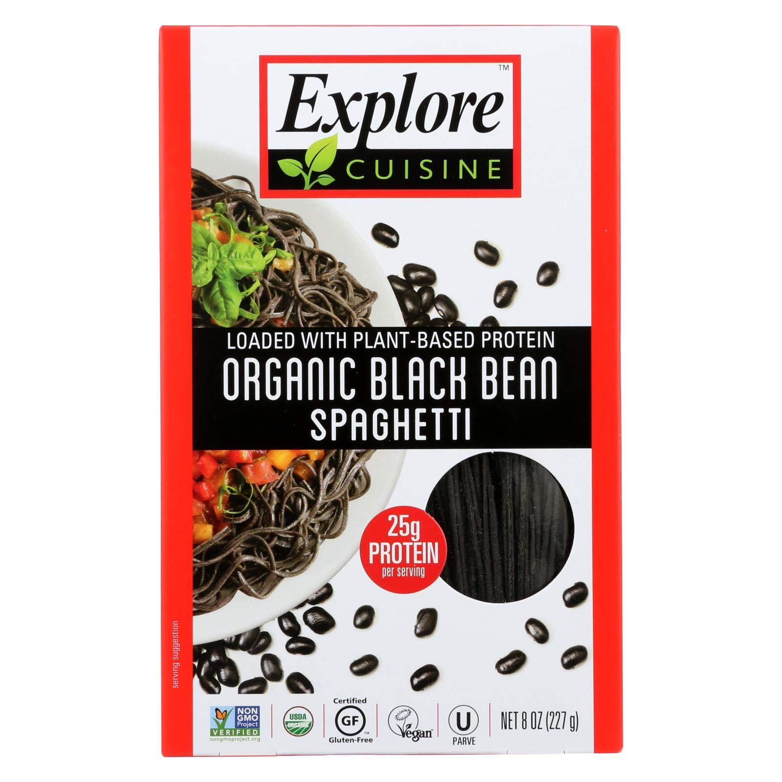 Explore Cuisine Organic Black Bean Spaghetti - Spaghetti - Case Of 6-8 Oz. by EXPLORE CUISINE