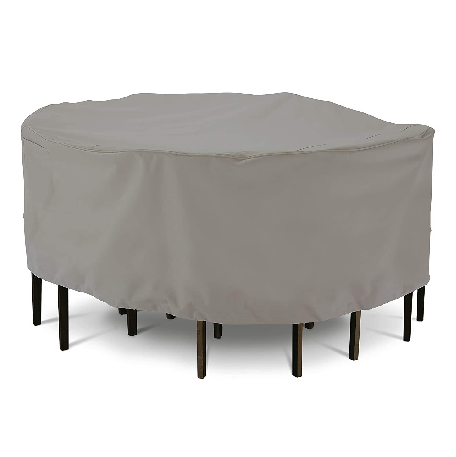 AmazonBasics Patio Round Table Chair Cover, Medium, Grey