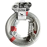 Pet Champion Aerial Run Reflective 60 Feet Trolley System with 10 Feet Runner