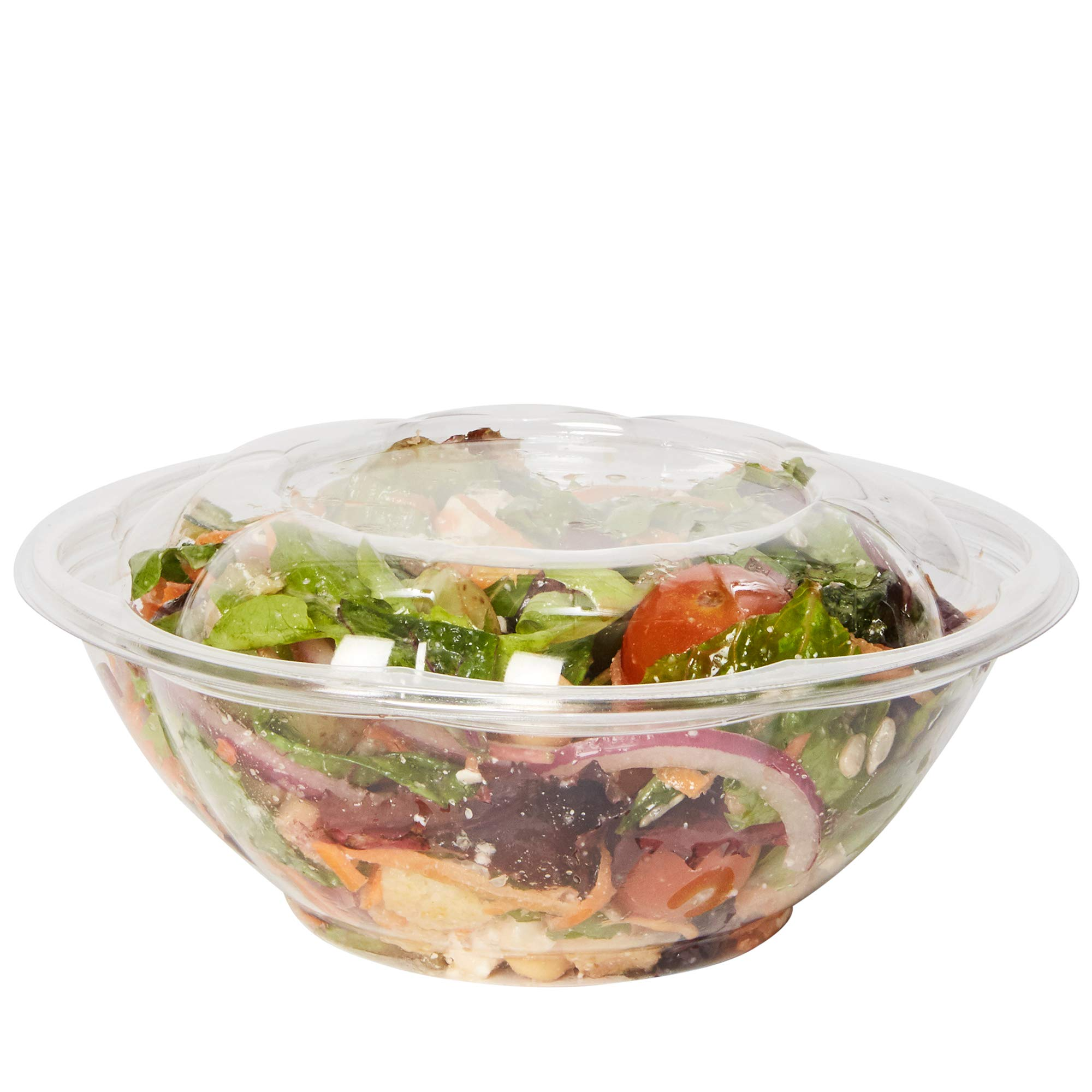[50 Sets - 24 oz.] Plastic Salad Bowls To-Go With Airtight Lids by Comfy Package (Image #1)
