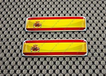 Juego de pegatinas 3D de la bandera de España: Amazon.es: Coche y moto