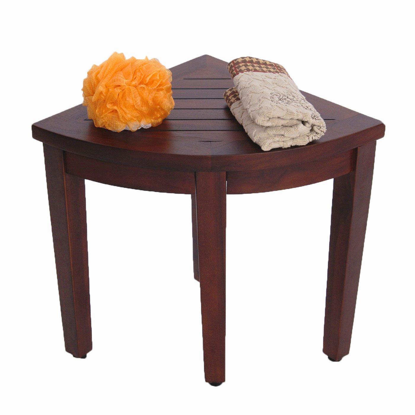 Amazon Oasis Bathroom Teak Corner Shower Seat Stool Chair