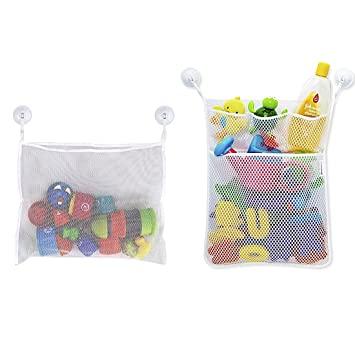 GreeSuit bath toy organiser mesh net storage hanging bag for kids baby boys girls with 4  sc 1 st  Amazon.com & Amazon.com : GreeSuit bath toy organiser mesh net storage hanging ...