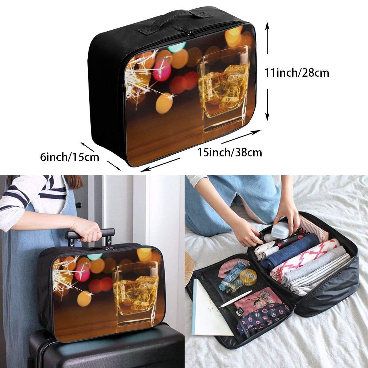 Travel Luggage Duffle Bag Lightweight Portable Handbag Whisky Glass Large Capacity Waterproof Foldable Storage Tote