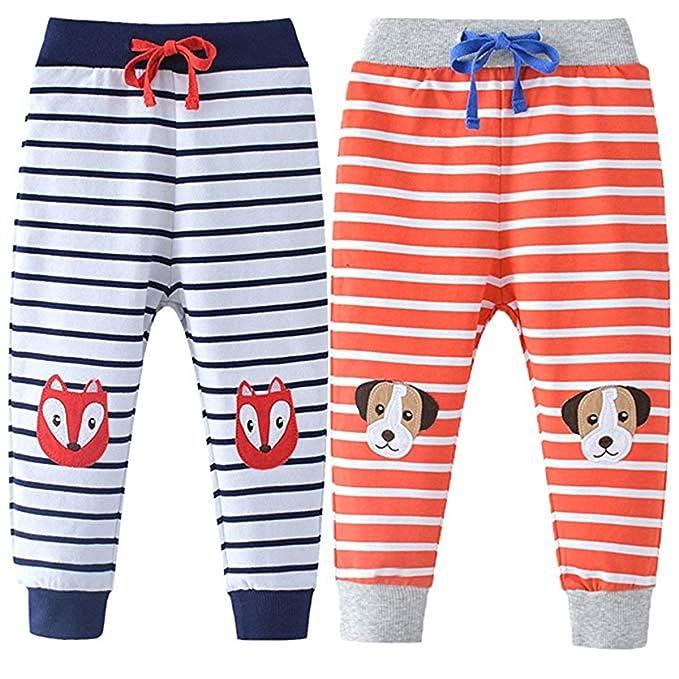 FAIRYRAIN - Juego de 2 Pantalones de chándal para niños con ...
