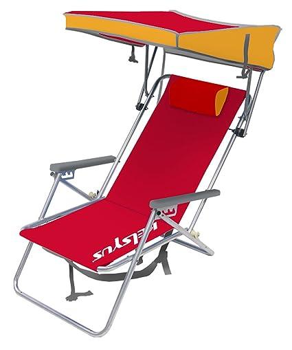 Kelsyus Beach Canopy Chair Red  sc 1 st  Amazon.com & Amazon.com : Kelsyus Beach Canopy Chair Red : Sports Fan Canopies ...