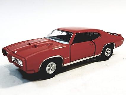 Amazoncom Welly Pontiac Gto 1969 Crimson Red Hard Top 138 O Scale