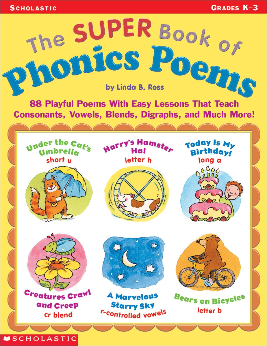 Amazon.com: The Super Book of Phonics Poems: 88 Playful Poems With ...