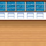 Cruise Ship Deck Backdrop Party Accessory (1 count) (1/Pkg)