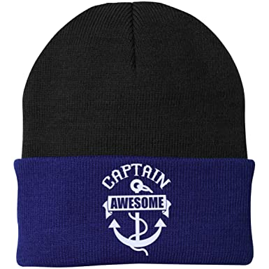 7b334a69f GoneBold.gift | Men's Hat - Captain Awesome Hats - Beanies at Amazon ...