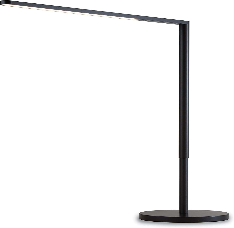 Koncept Lady 7 LED Desk Lamp with USB Charging Port in Metallic Black, L7-MBK-DSK