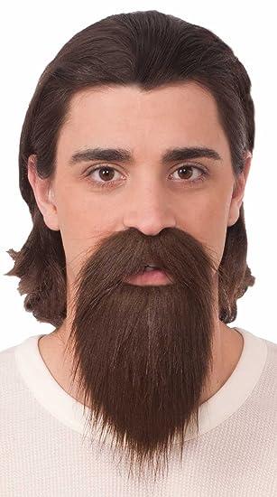amazon com long brown goatee beard clothing