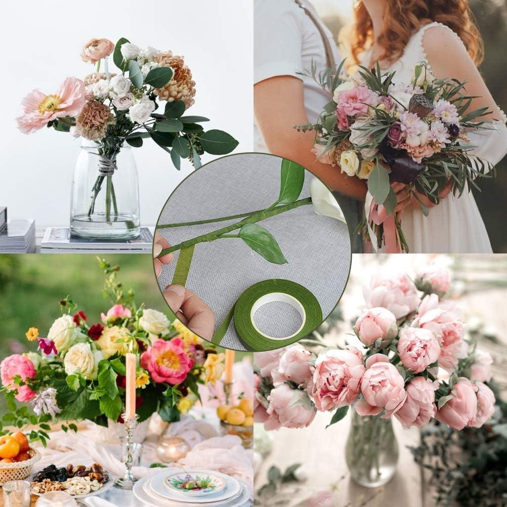 Bouquets Tagliafilo floreale 26 Calibro Stelo Filo Floreale Fiori 3 Colori Nastro di Carta 22 Calibro Stelo Filo Floreale Fiori Coolty Kit Strumento Floreale