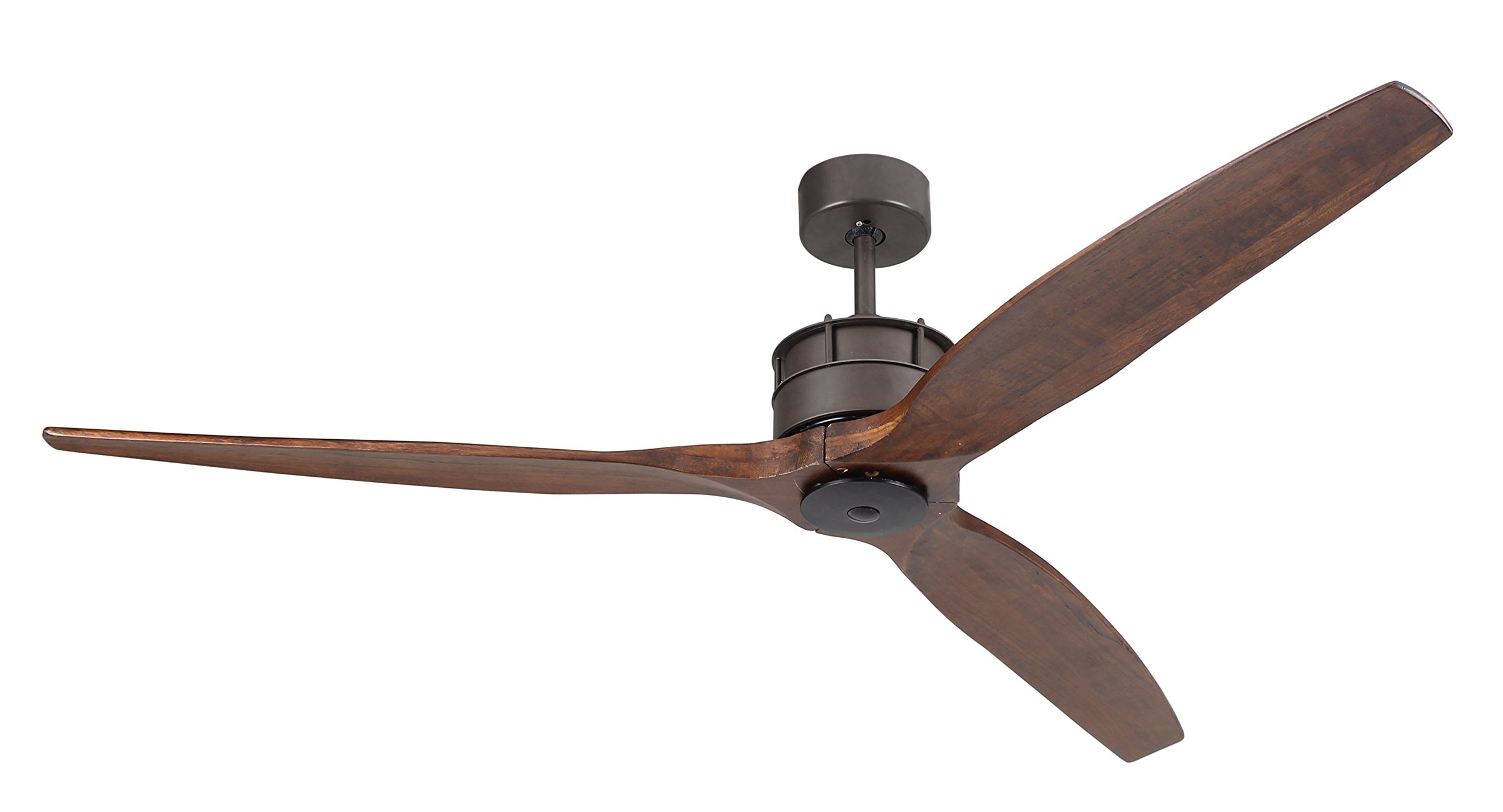 Airfusion Akmani 60-inch DC Fan with 6-Speed Remote Control, Oil Rubbed Bronze Body/Koa Blades by Beacon Lighting
