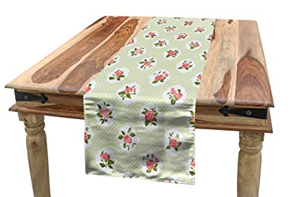 Magnificent Amazon Com Lunarable Shabby Chic Table Runner Cottage Chic Download Free Architecture Designs Remcamadebymaigaardcom