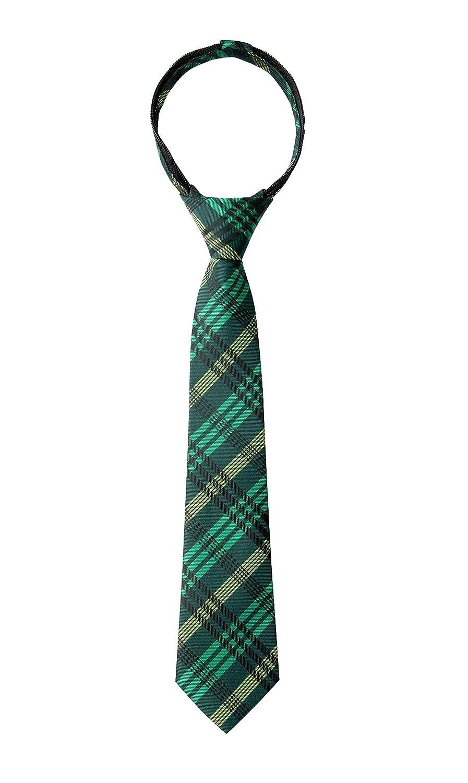 Spring Notion Boys Plaid Woven Zipper Tie