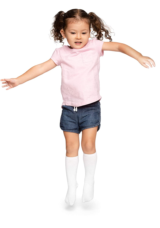 5 Pairs LA Active Knee High Grip Socks Baby Toddler Infant Kids Non Slip//Skid Cotton