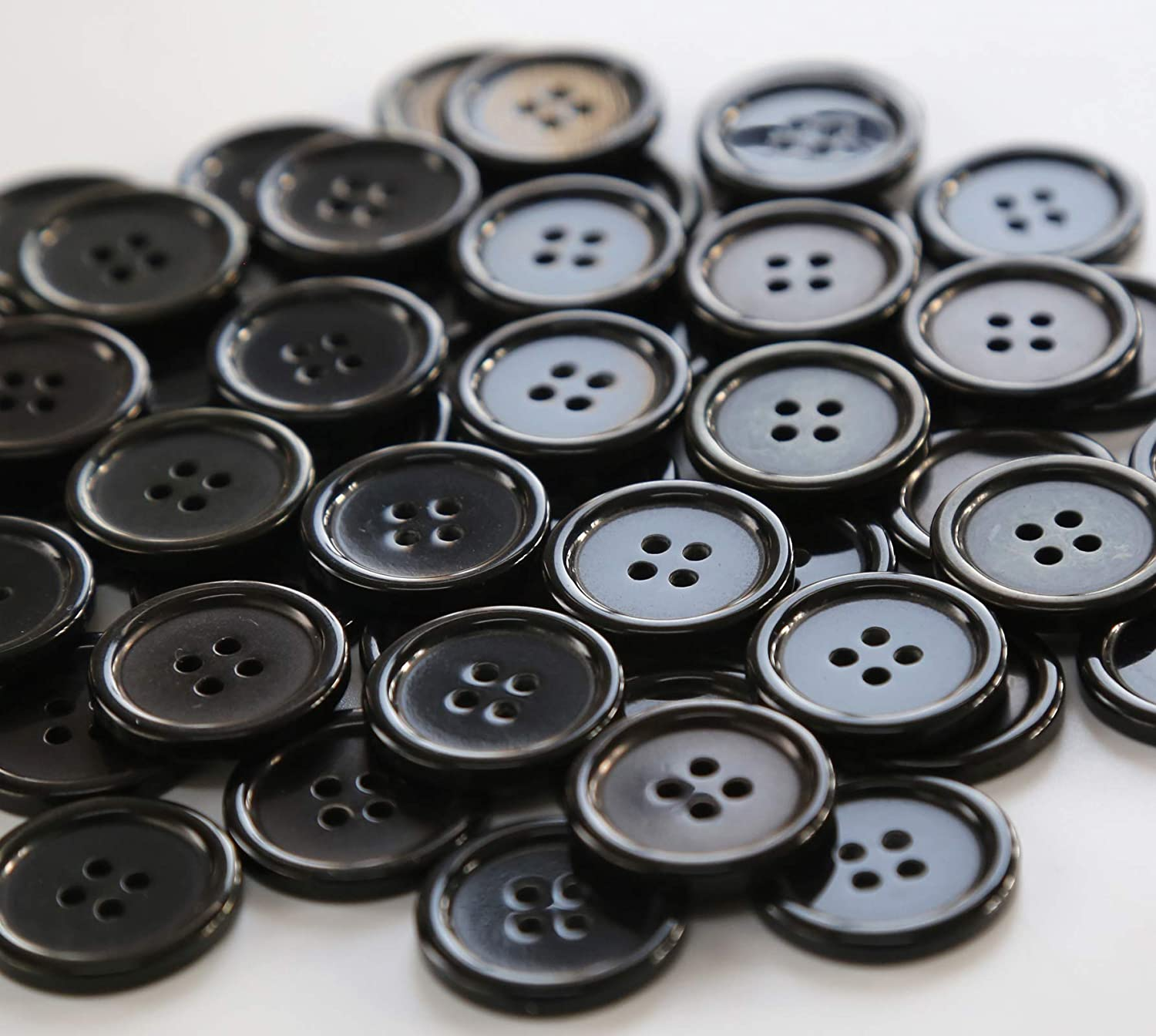 7 Black Buttons Black Shank Buttons Raised Bead Buttons Jewelry Button Vintage Button Lot Black Buttons Ornamental Buttons