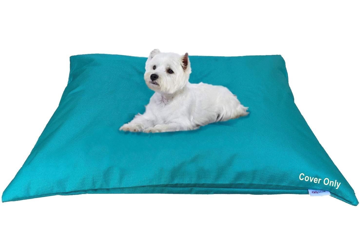 Do It Yourself DIY Pet Bed Pillow Duvet Waterproof Cover for Dog or Cat in Medium 37''X29'' Vibrant Peacock Blue Color - Cover only