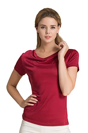 63f7bc49 Colorful Silk CLC Women's Mulberry Silk Camisole T-Shirt Tank Tops ...