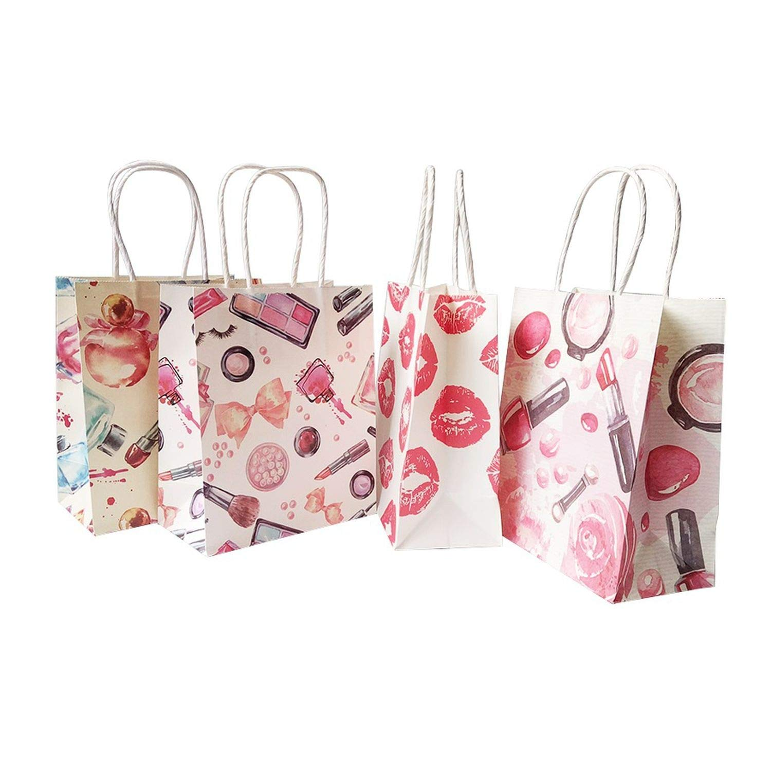 50 Pcs/Lot 15x18 cm Cosmetic Pattern Printing Paper Bags with Handle Gift Bags Party Favor Wedding Packaging Storage Bags,Perfume by JIA-WALK (Image #6)