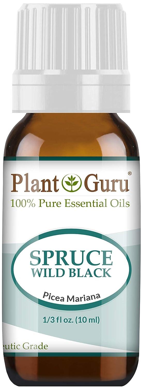 Wild Black Spruce Essential Oil. 10 ml. 100% Pure, Undiluted, Therapeutic Grade. by Plant Guru B016L1ATMU