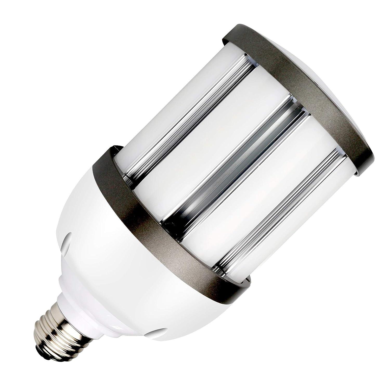 コーンライト LED 水銀灯100W形相当 昼白色 E26 27W 2700lm 乳白 カバー 電源内蔵 水銀灯 100W 相当 保証 ソケット付 20個セット B07FKNDZTB