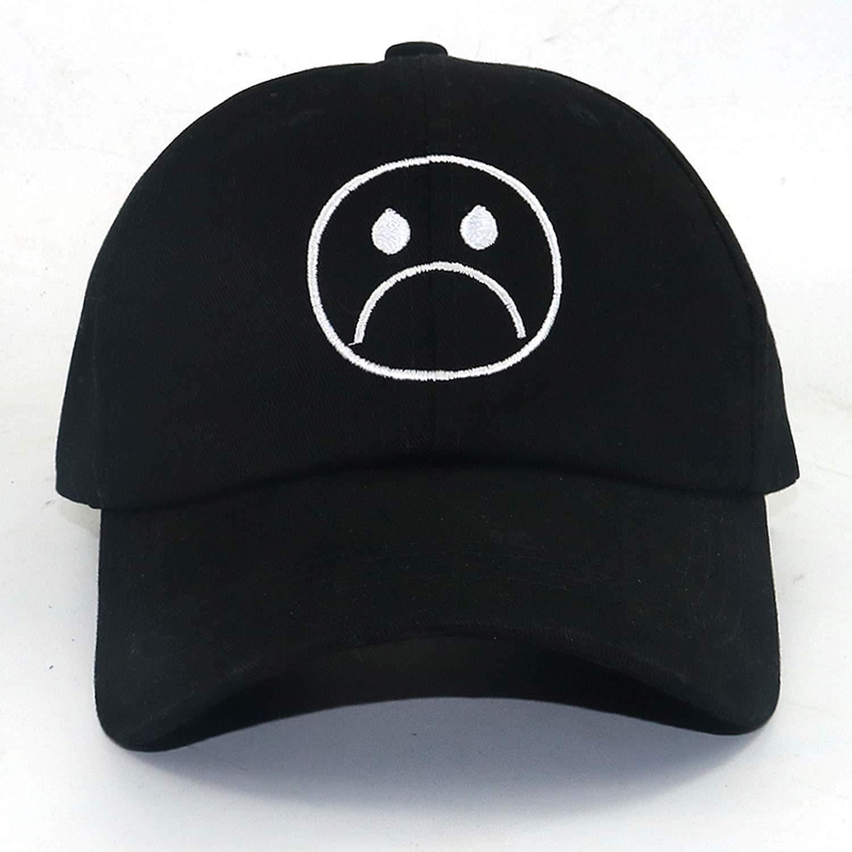 Rzxkad Sad Boy Baseball Cap Fashion dad hat Crying face Cotton hat Hip hop caps Headwear Harajuku Skateboard Hats