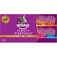 Whiskas Perfect Portions Food Trays for Cats - Beef - Chicken - Salmon - Whitefish & Tuna - 75g (24 Pack)