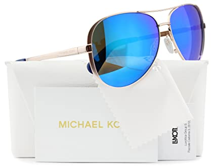 f2ab4bfbc0 Amazon.com  Michael Kors MK5004 Chelsea Aviator Sunglasses Rose Gold w Blue  Mirror (1003 25) MK 5004 100325 59mm Authentic  Sports   Outdoors