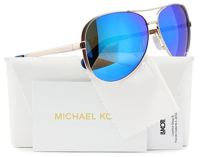 d56026fe08 Michael Kors MK5004 Chelsea Aviator Sunglasses Rose Gold w Blue Mirror  (1003 25) MK 5004 100325 59mm Authentic  Amazon.co.uk  Clothing