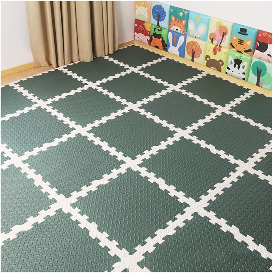 Color : Beige, Size : 30x30x1cm-4pcs ALGFree Foam Play Mat Child Bedroom Jigsaw Puzzle Splice Crawl Interlocking Floors Tiles Carpet Kindergarten Playground,Freely Combinable
