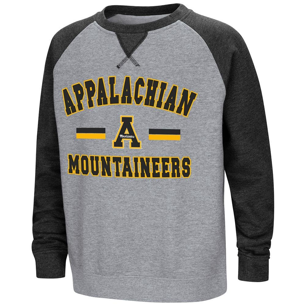 Colosseum Youth Appalachian State Mountaineersフリースクルーネックスウェットシャツ B07DWJ7CNH   Large (16/18)