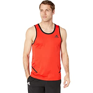 aa57ae476 Amazon.com: adidas Men's Pro Madness Sleeveless Tank Top, Active Red ...