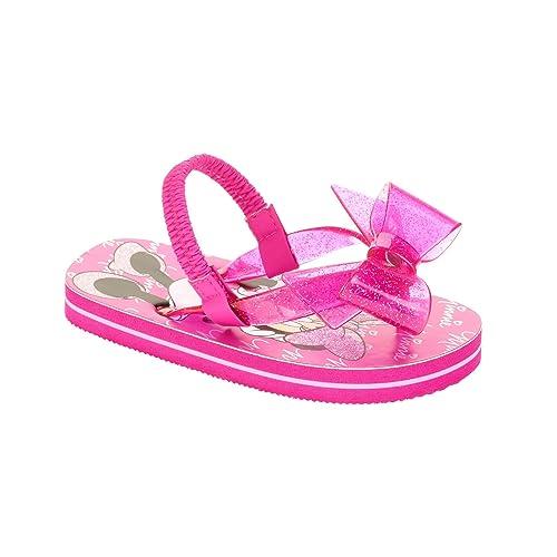 458430cfe33dc Disney Minnie Mouse Toddler Little Girls Flip Flop Beach Sandals Glittery  Jelly Bow (11