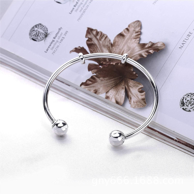 SGBTJKU Quality Moments Silver Open Bangle with Logo Caps Bangle /& Pan Bracelet