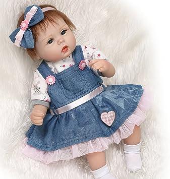 LIFELIKE NEWBORN DOLLS REALISTIC SILICONE VINYL REBORN BABY GIRL DOLL XMAS GIFTS