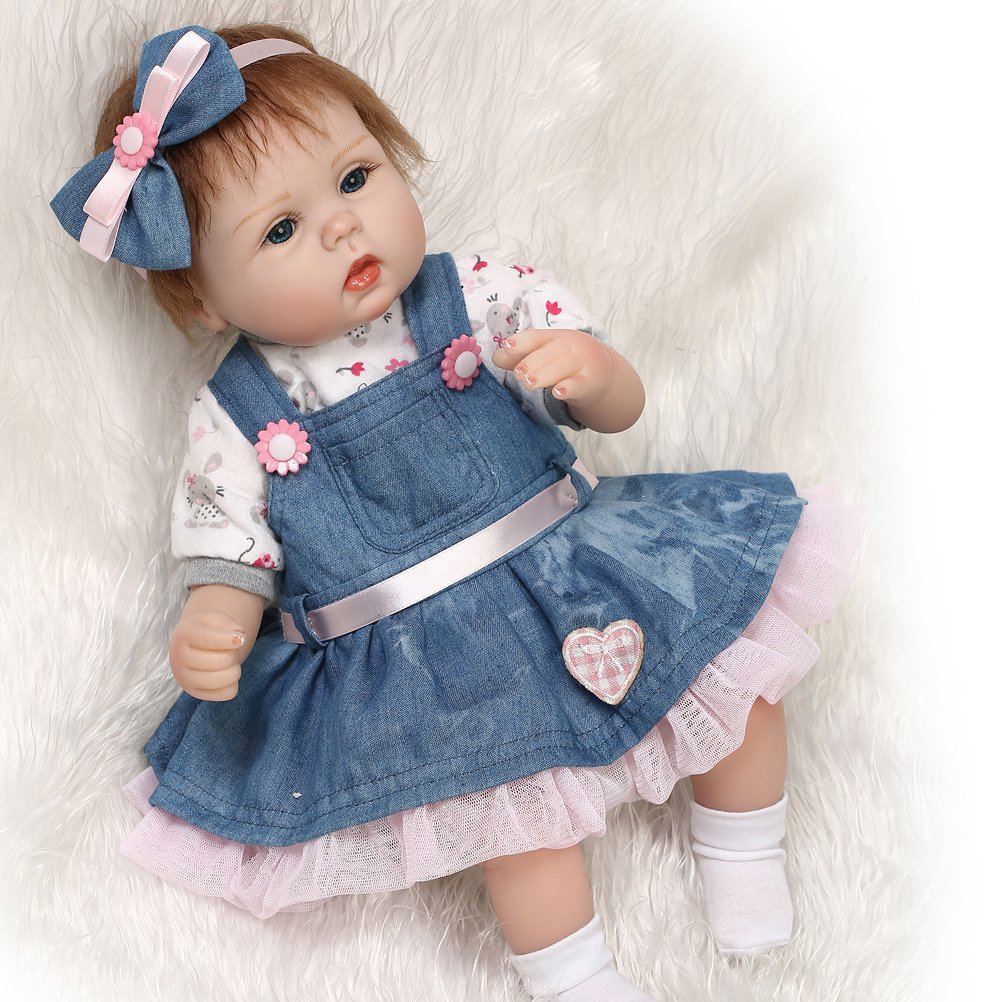 17  Newborn Baby Dolls Silicone Vinly 45CM Reborn Babys Doll for Girl Gifts Hots