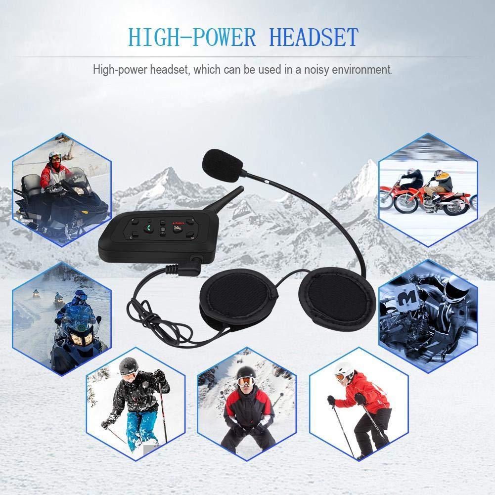 2 sets 2 Set V6 Pro 1200M Interphone Cuffie interfoniche Bluetooth 6 motociclisti Casco moto Auricolare interfono Bluetooth